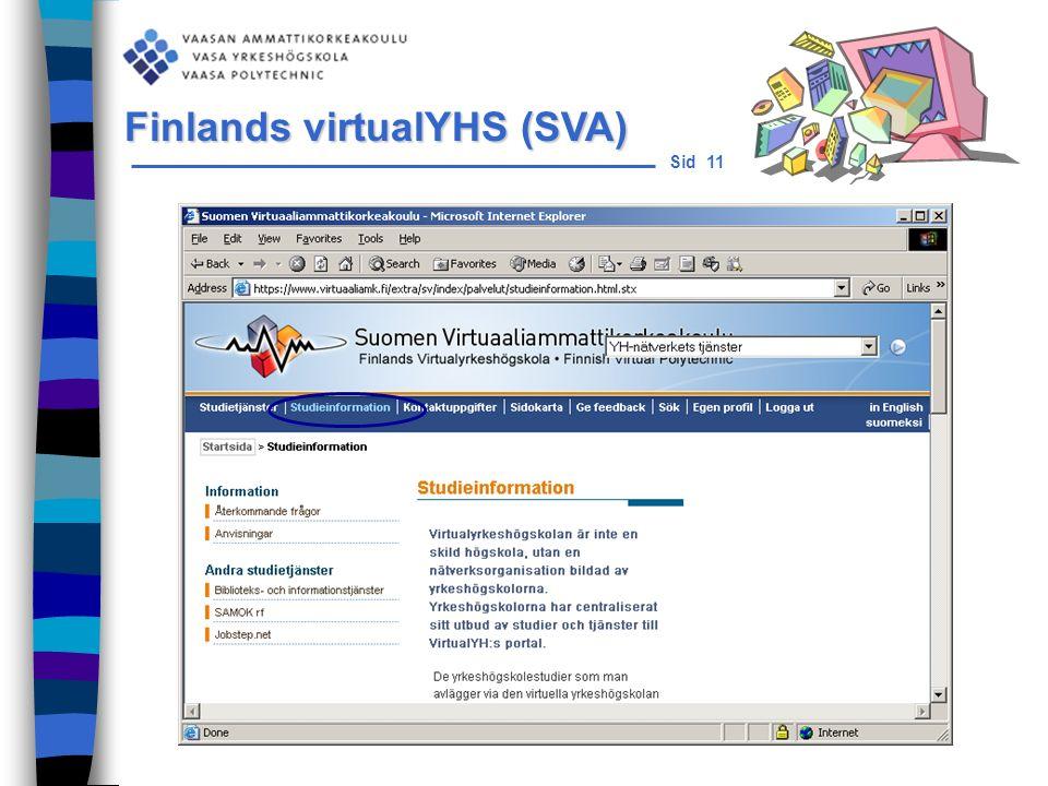Sid 11 Finlands virtualYHS (SVA)