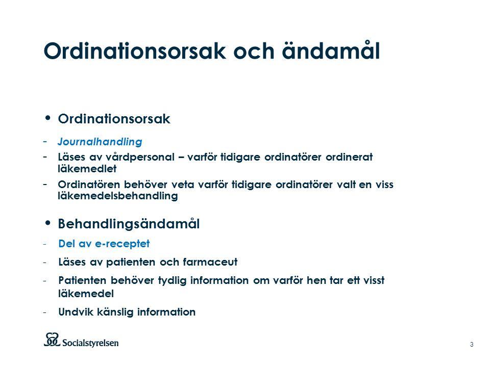 System för underhåll och distribution av kodverk för ordinationsorsak Björn Hedman 2016-04-06 A