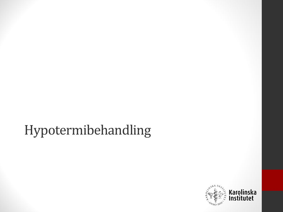 Hypotermibehandling