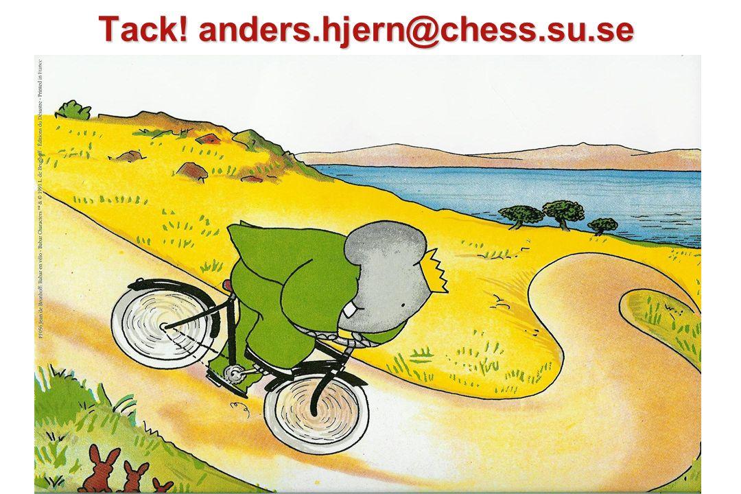 Tack! anders.hjern@chess.su.se
