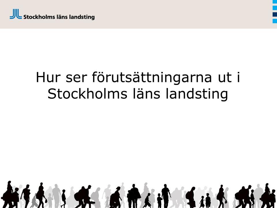 Hur ser förutsättningarna ut i Stockholms läns landsting