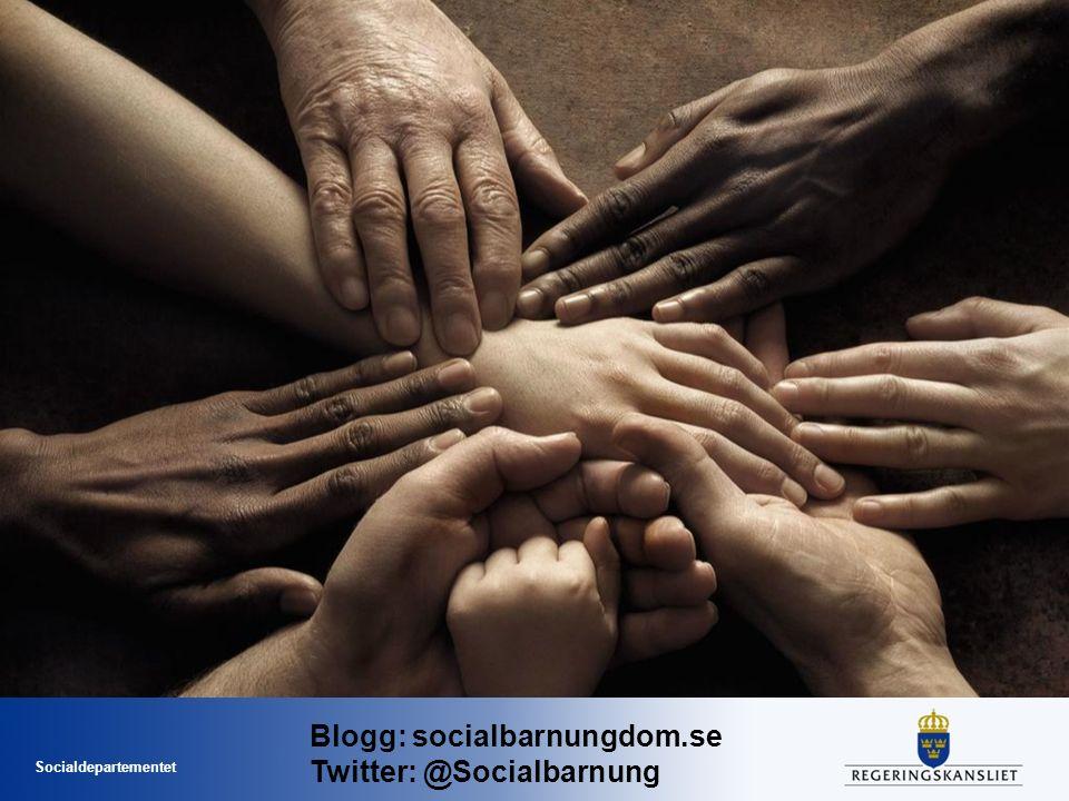 Socialdepartementet Blogg: socialbarnungdom.se Twitter: @Socialbarnung