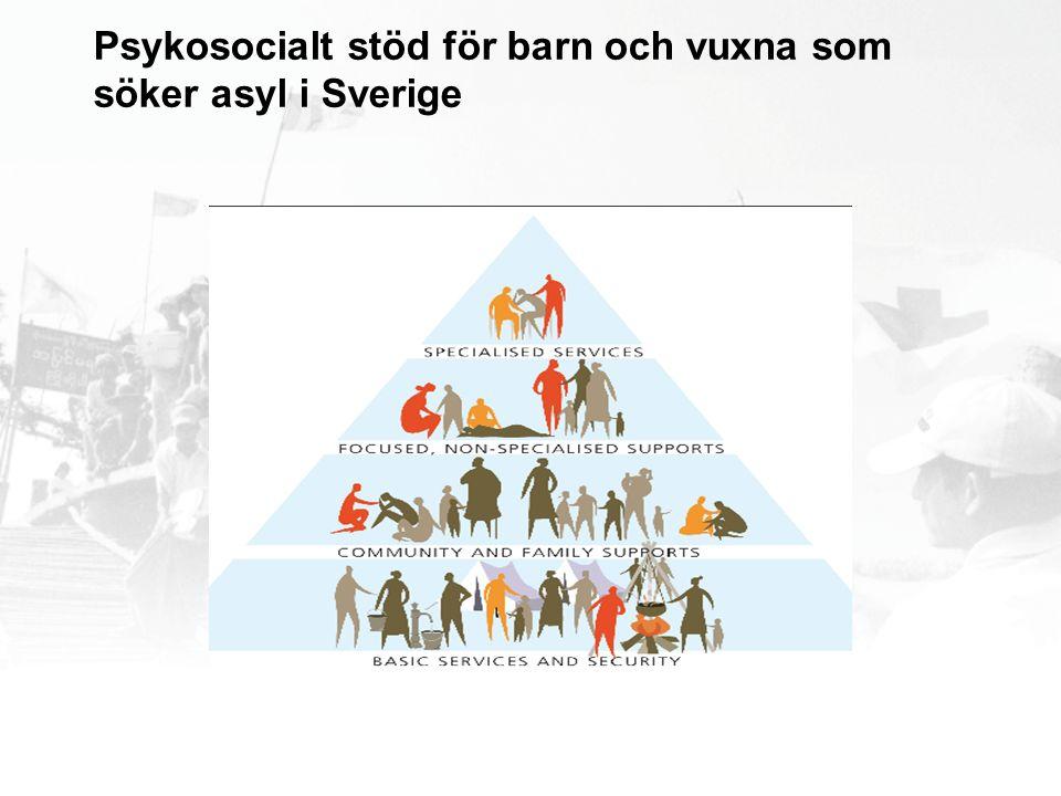 Psykosocialt stöd för barn och vuxna som söker asyl i Sverige