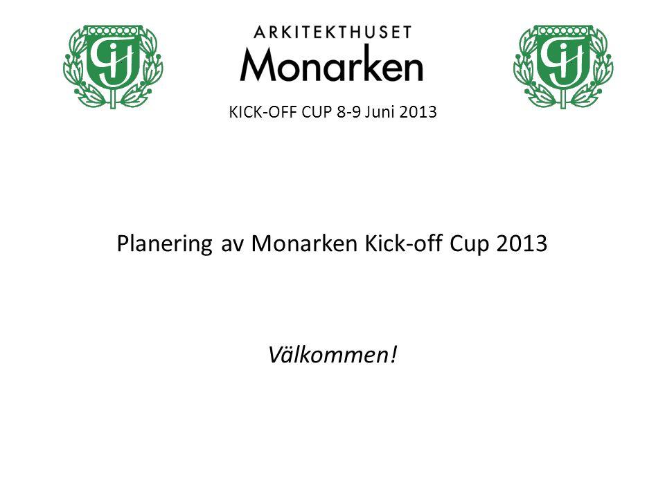 KICK-OFF CUP 8-9 Juni 2013 Planering av Monarken Kick-off Cup 2013 Välkommen!