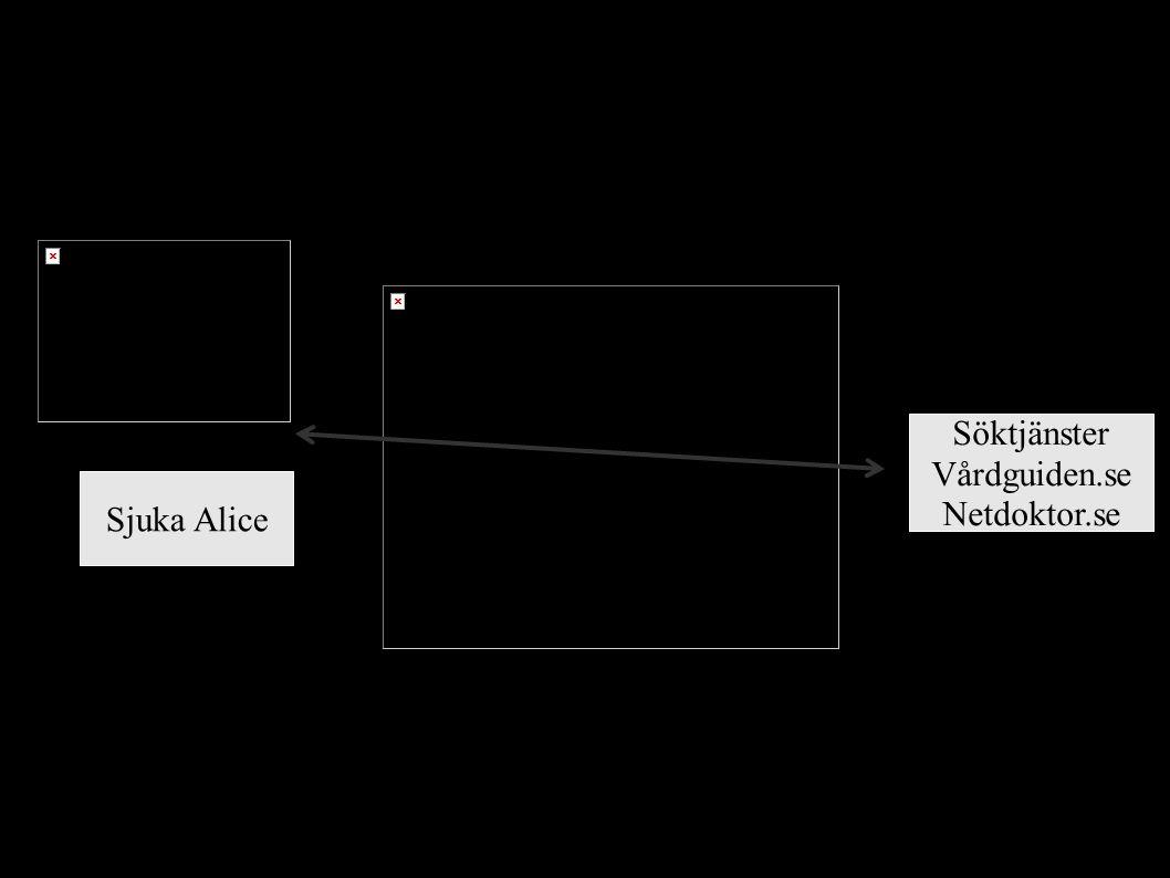 10 Sjuka Alice Söktjänster Vårdguiden.se Netdoktor.se Privatpersoner vill inte vara övervakade