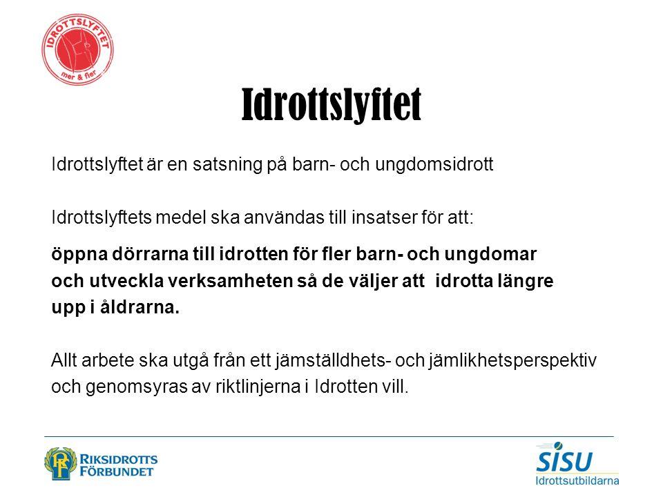 Svensk idrotts nya verksamhetssystem för kommunikation och administration Idrottslyftsapplikationen