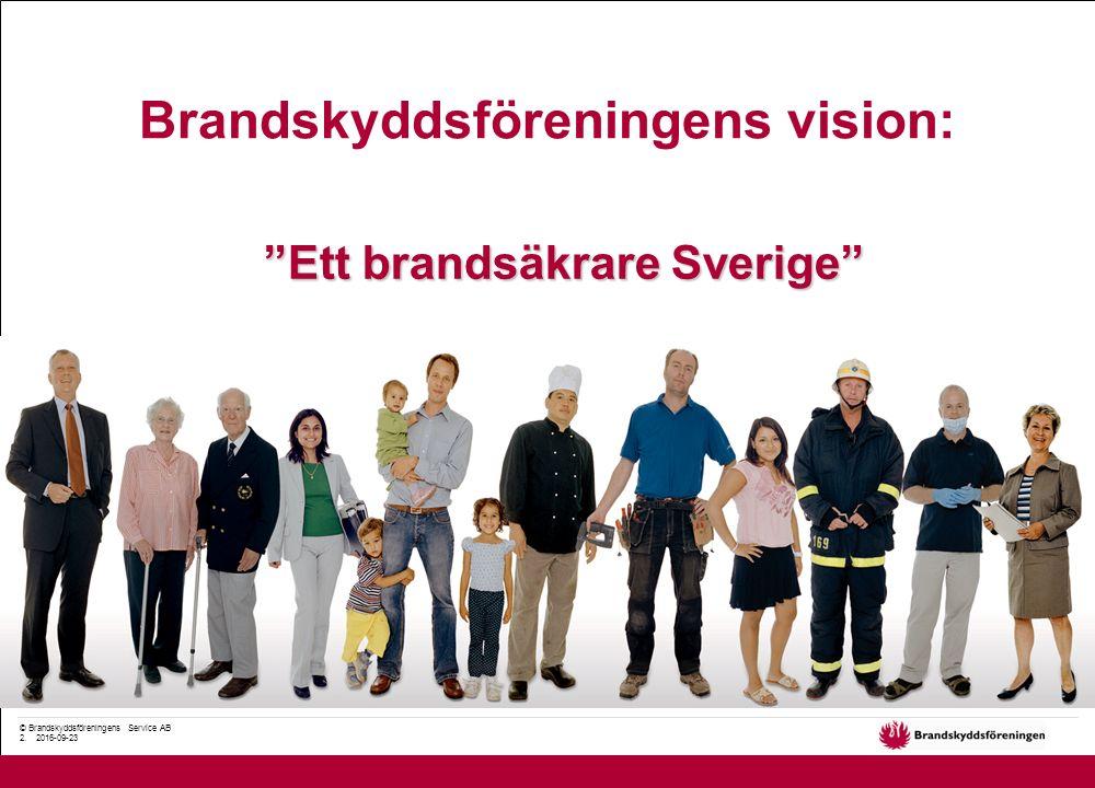 """© Brandskyddsföreningens Service AB 2. 2016-09-23 Brandskyddsföreningens vision: """"Ett brandsäkrare Sverige"""""""