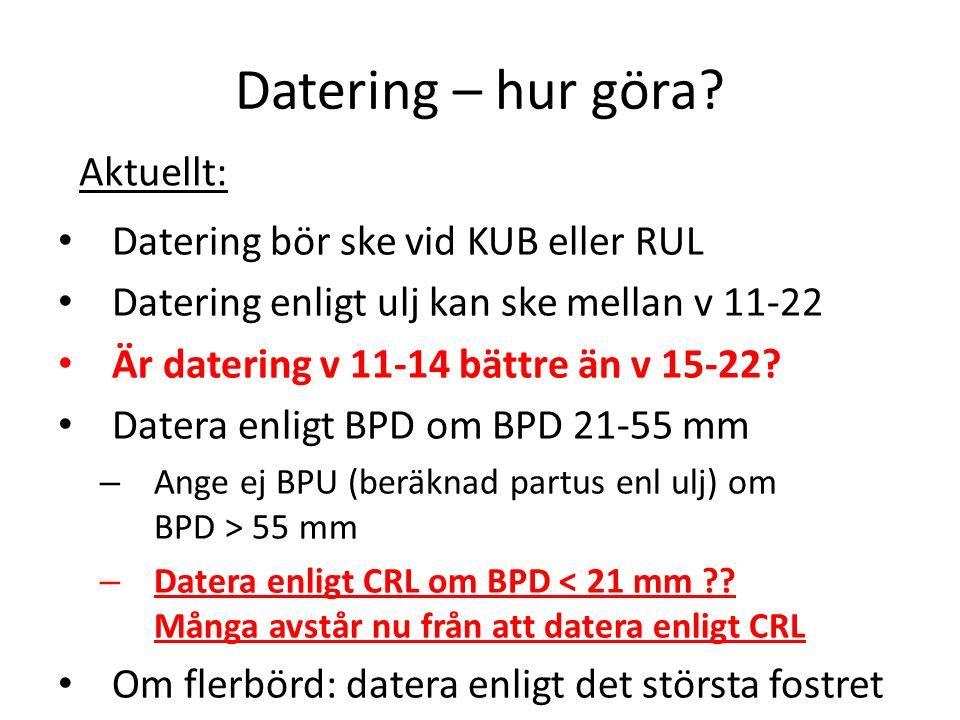 Datering – hur göra.