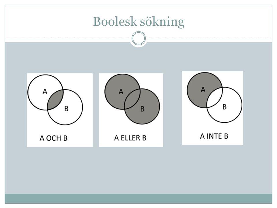 Boolesk sökning