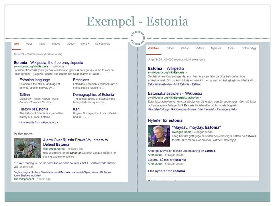 Exempel - Estonia