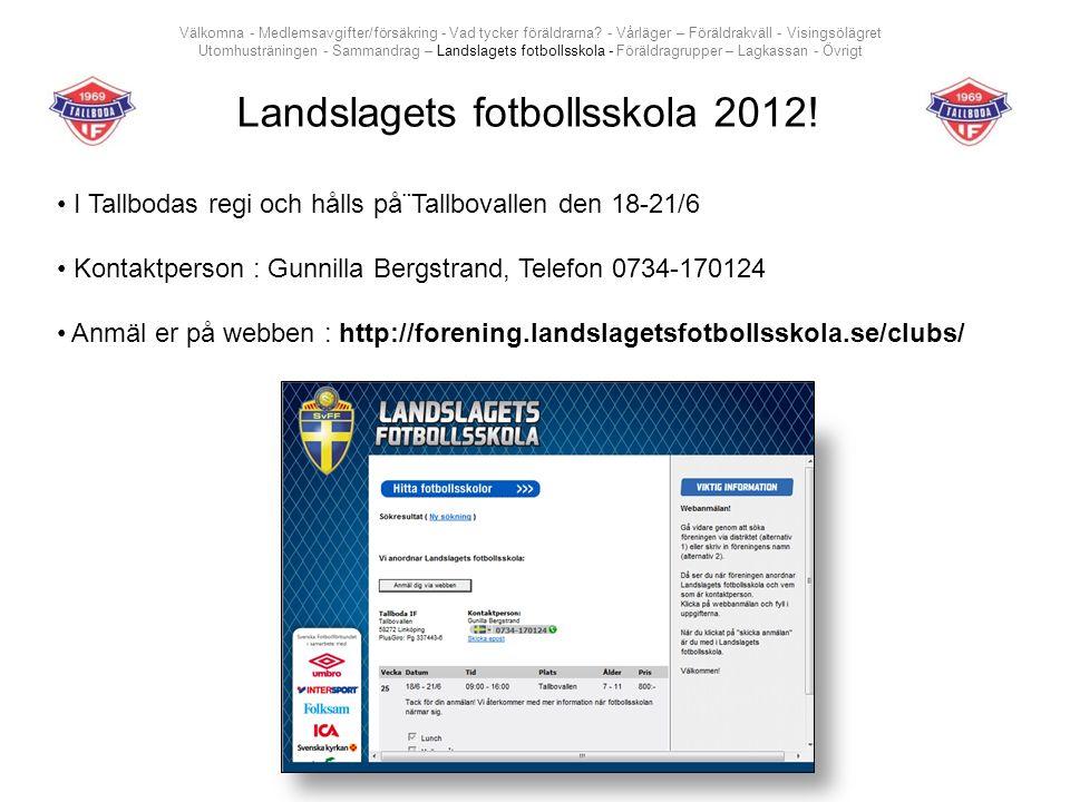 Landslagets fotbollsskola 2012.