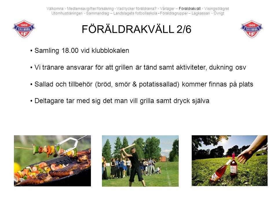 VISINGSÖLÄGRET Läger för alla spelare, föräldrar och syskon i laget Två träningar och förhoppningsvis en match mot Grenna pojkar 2004 En helg i augusti 11-12/8 En lördag & söndag med övernattning och samkväm för alla tillsammans Vi kommer vara i STF:s anläggning på Visingsö Kostnad 190 kronor/vuxen, 100 kronor/barn exklusive mat, linne, resa osv Välkomna - Medlemsavgifter/försäkring - Vad tycker föräldrarna.