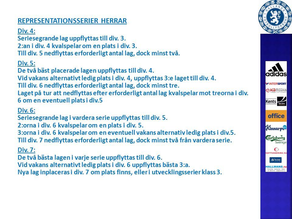 REPRESENTATIONSSERIER HERRAR Div.4: Seriesegrande lag uppflyttas till div.