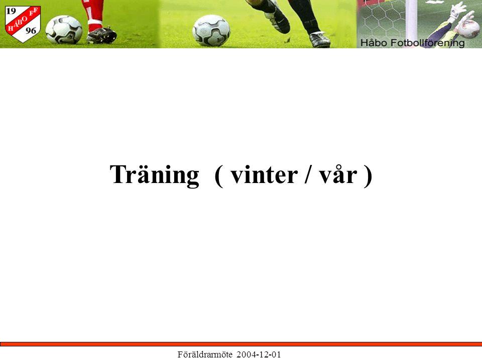 Föräldrarmöte 2004-12-01 Träning ( vinter / vår )