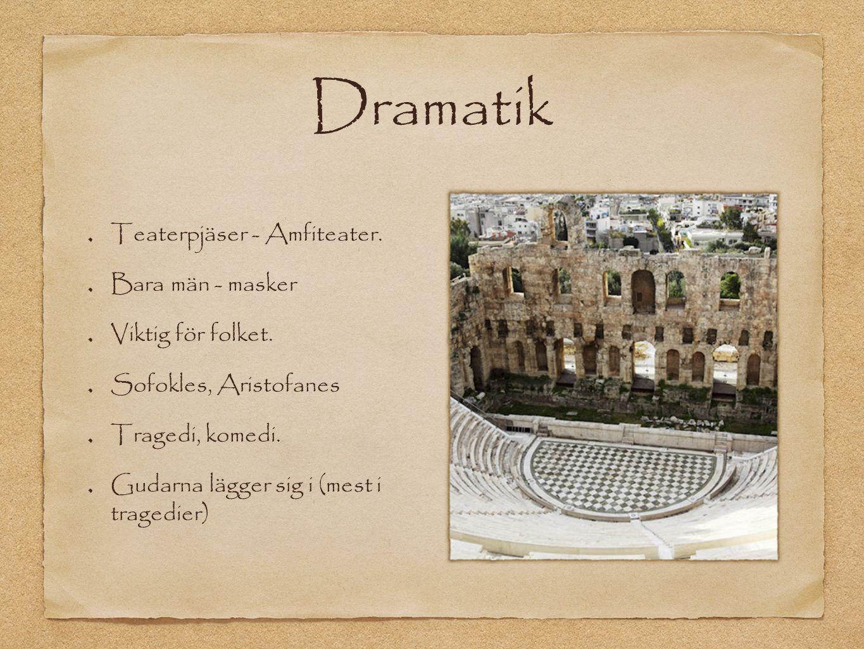 Dramatik Teaterpjäser - Amfiteater. Bara män - masker Viktig för folket.