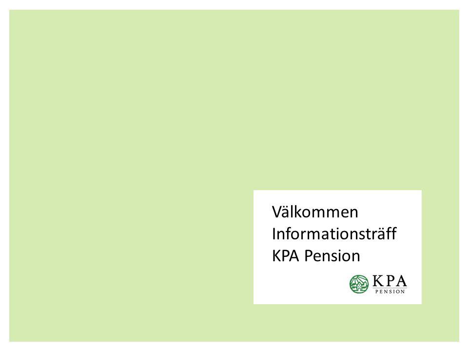 Välkommen Informationsträff KPA Pension