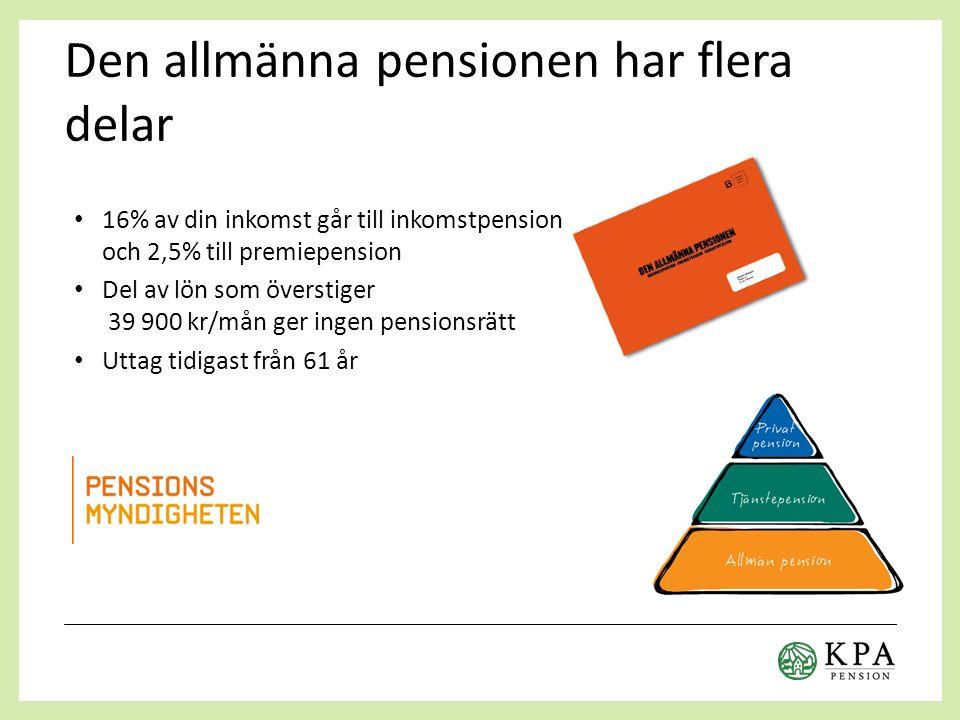 Pension – sammanfattning
