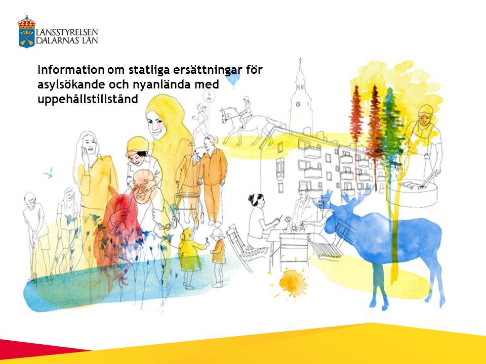 Information om statliga ersättningar för asylsökande och nyanlända med uppehållstillstånd