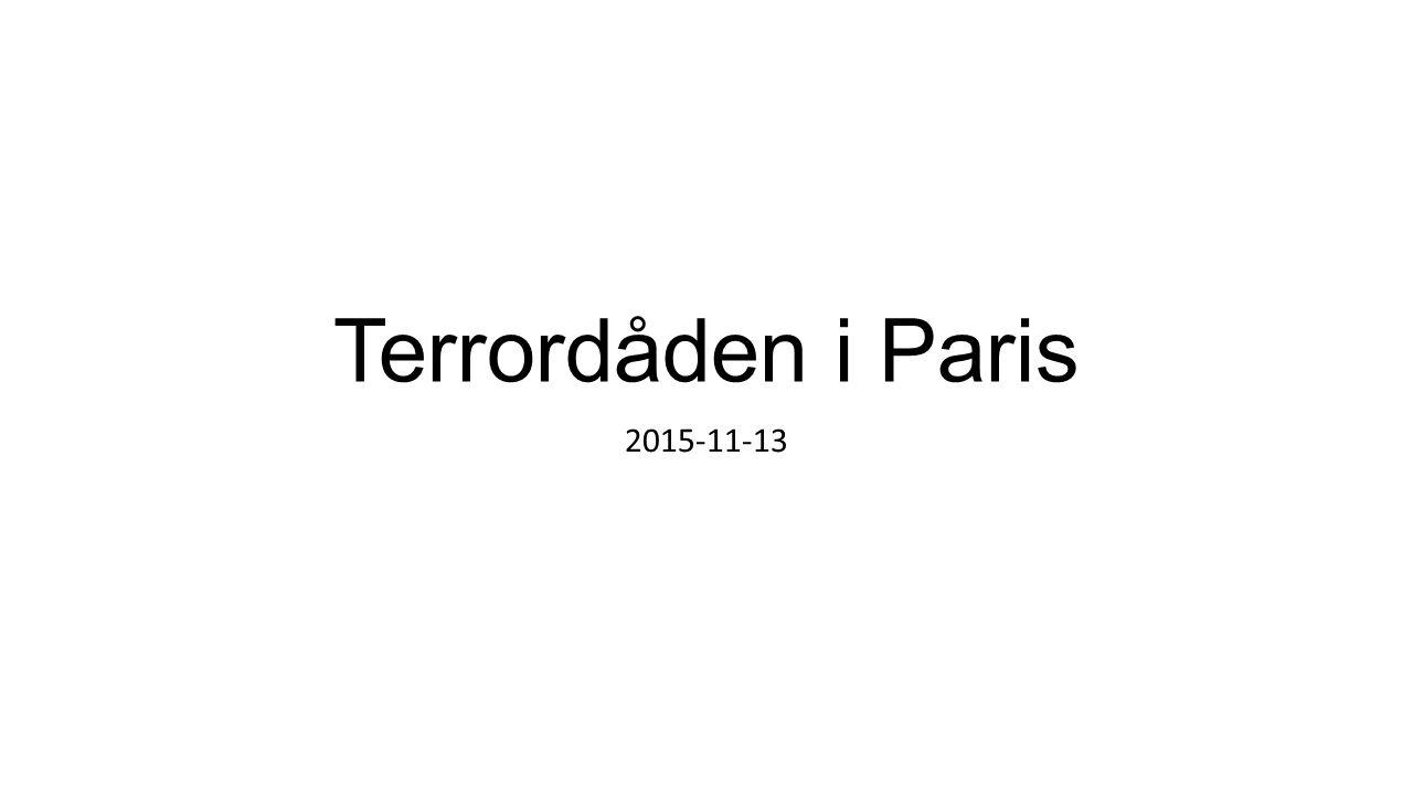 Terrordåden i Paris 2015-11-13