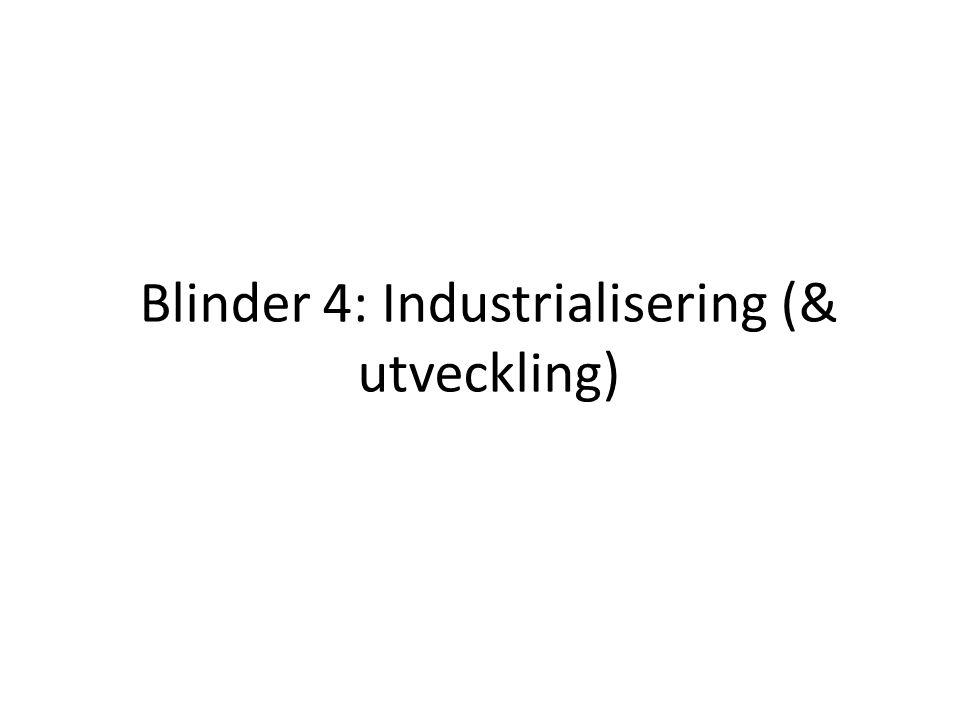 Blinder 4: Industrialisering (& utveckling)