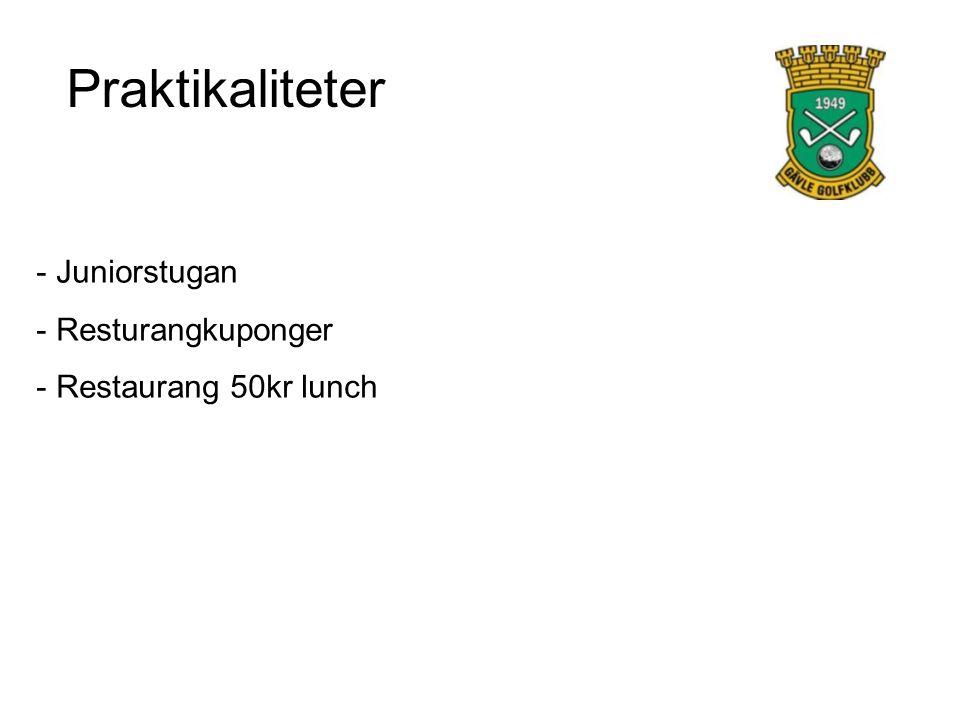Praktikaliteter - Juniorstugan - Resturangkuponger - Restaurang 50kr lunch