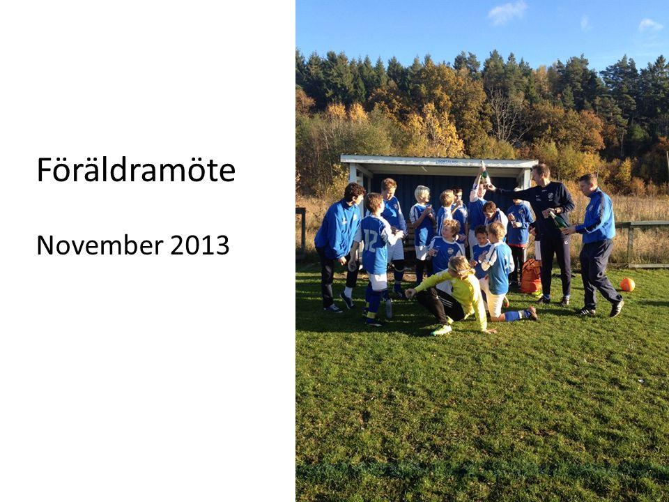 Föräldramöte November 2013