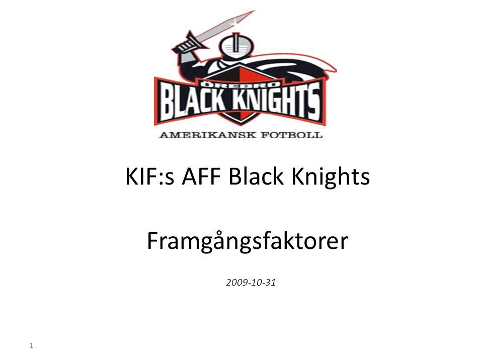 1 KIF:s AFF Black Knights Framgångsfaktorer 2009-10-31