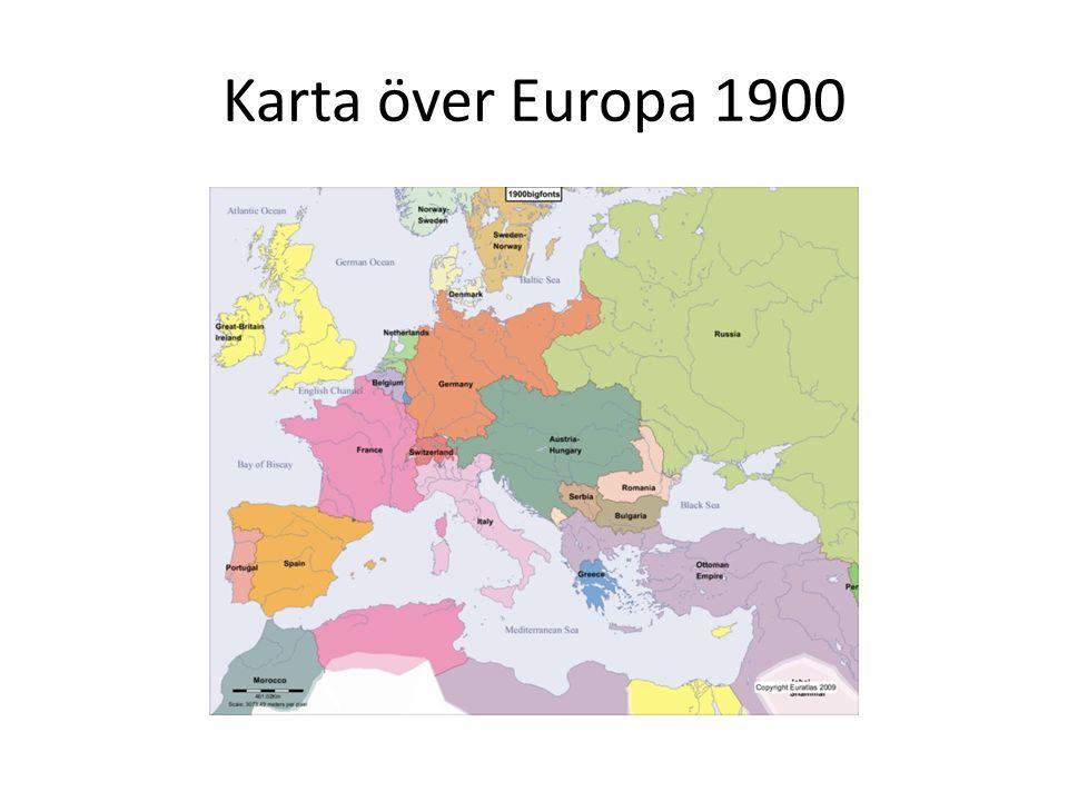 Konflikterna ökar mellan Europas länder Orsaker till kriget Hotet från Tyskland: Stålproduktionen ökar genom erövringen av Elsass och Lothringen från Frankrike där stora järnmalmsfyndigheter fanns.