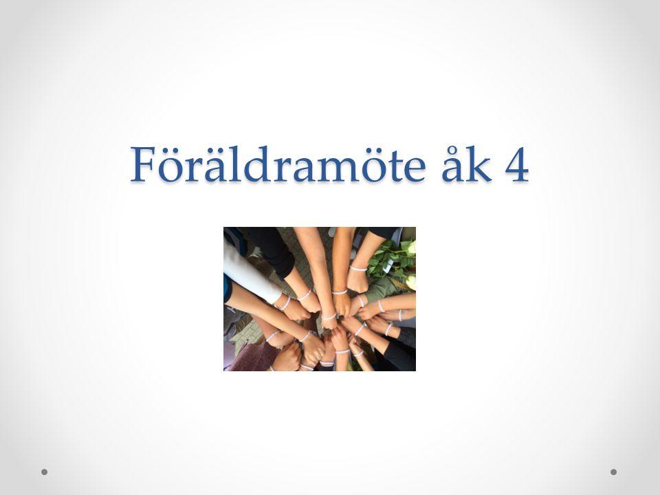 Föräldramöte åk 4