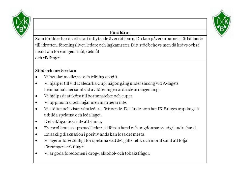 3.Värdegrunder i laget 1. Förbud mot all vattenlek med flaskor och liknande.