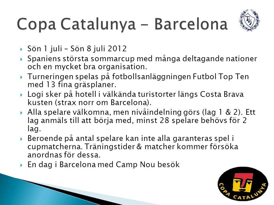  Sön 1 juli – Sön 8 juli 2012  Spaniens största sommarcup med många deltagande nationer och en mycket bra organisation.