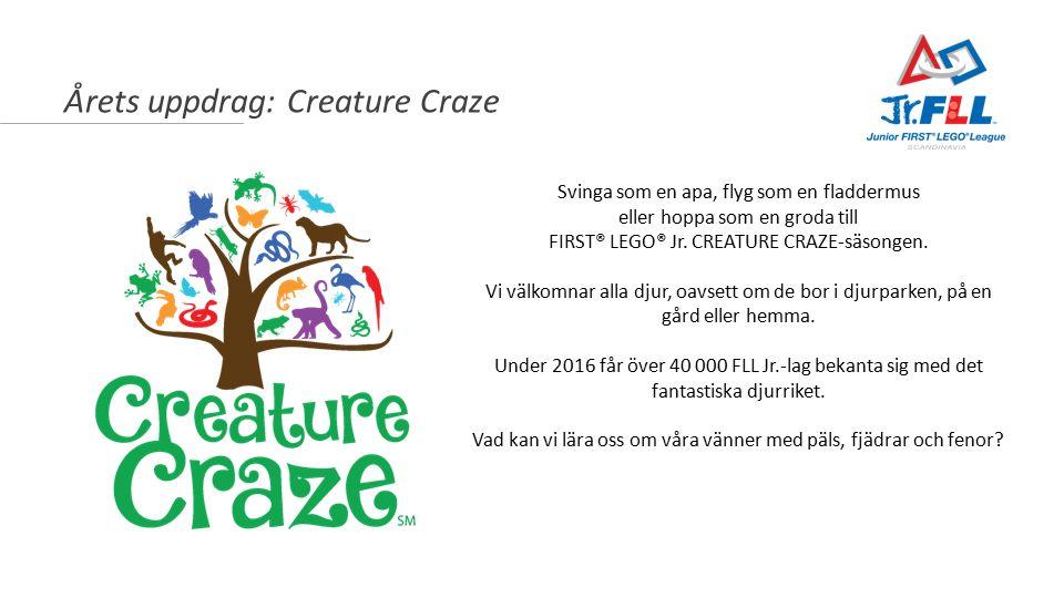 Årets uppdrag: Creature Craze Svinga som en apa, flyg som en fladdermus eller hoppa som en groda till FIRST® LEGO® Jr.