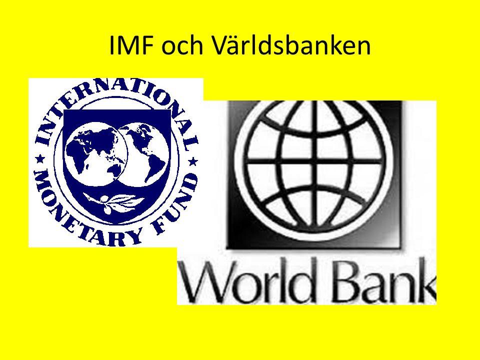 IMF och Världsbanken
