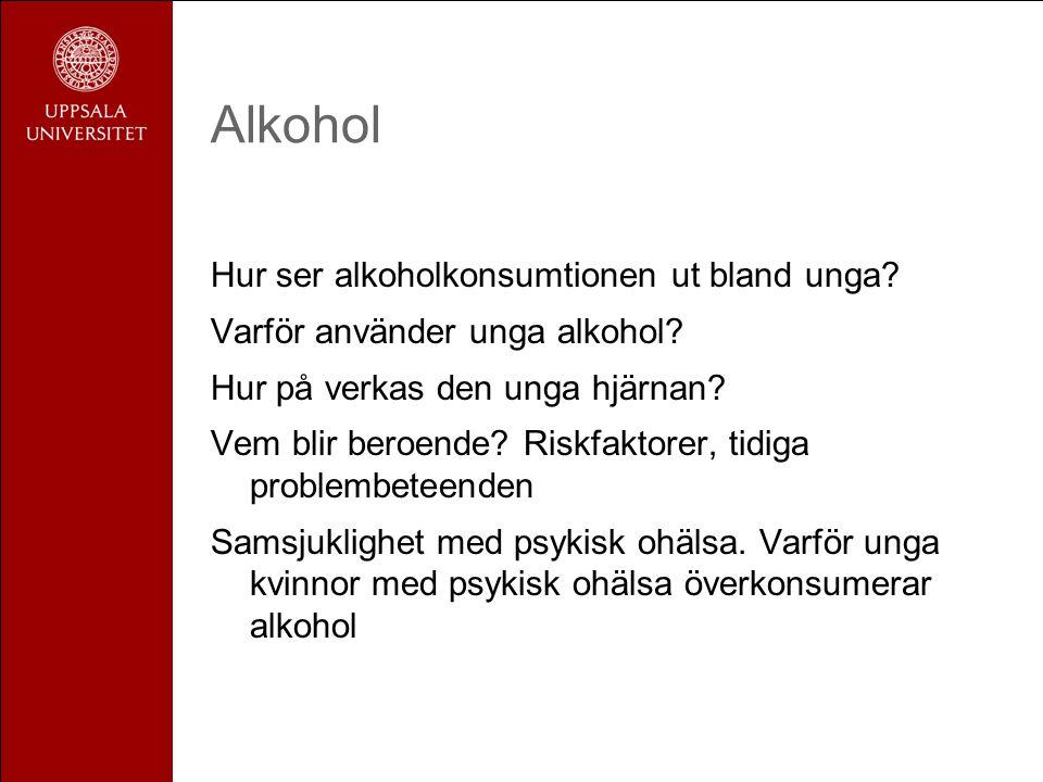 Alkohol Hur ser alkoholkonsumtionen ut bland unga.