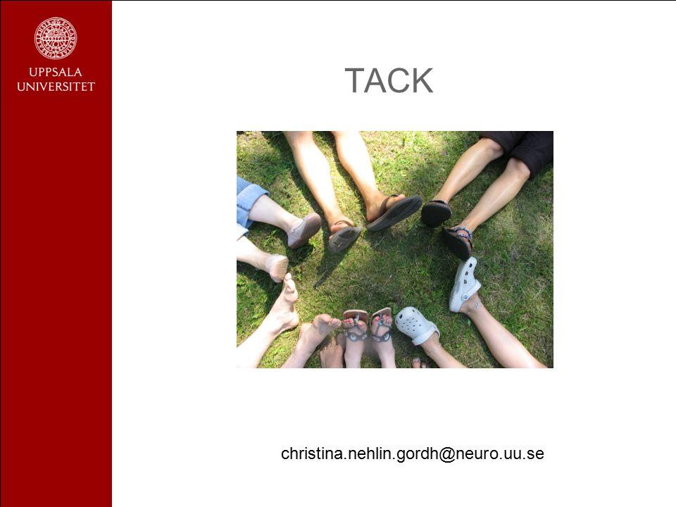 TACK christina.nehlin.gordh@neuro.uu.se