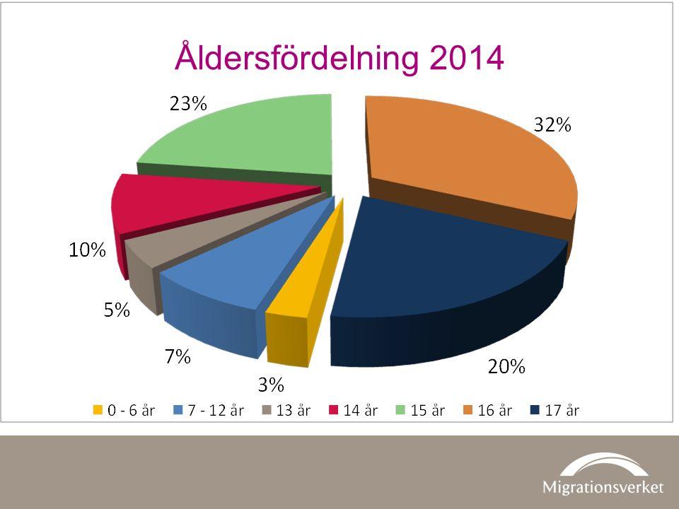 Åldersfördelning 2014