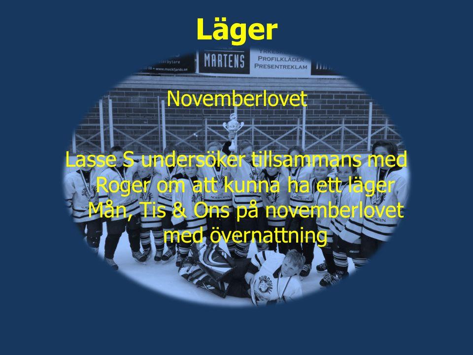 Läger Novemberlovet Lasse S undersöker tillsammans med Roger om att kunna ha ett läger Mån, Tis & Ons på novemberlovet med övernattning