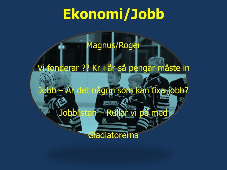 Ekonomi/Jobb Magnus/Roger Vi fonderar ?? Kr i år så pengar måste in Jobb – Är det någon som kan fixa jobb? Jobblistan – Rullar vi på med Gladiatorerna