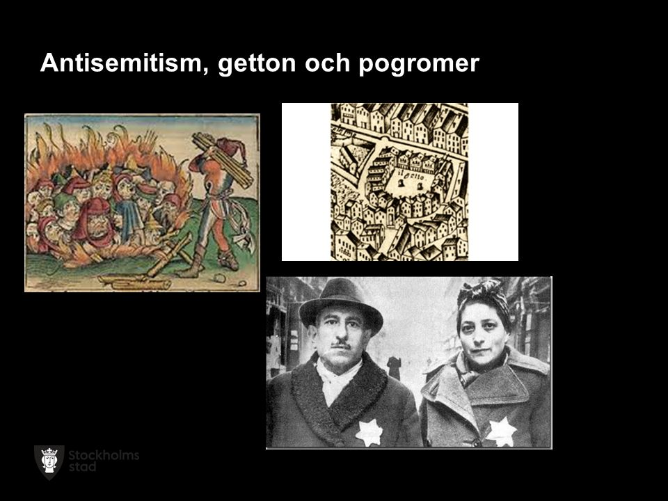 Antisemitism, getton och pogromer