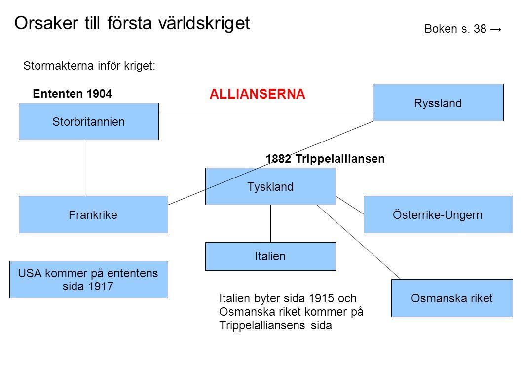 Orsaker till första världskriget Boken s.