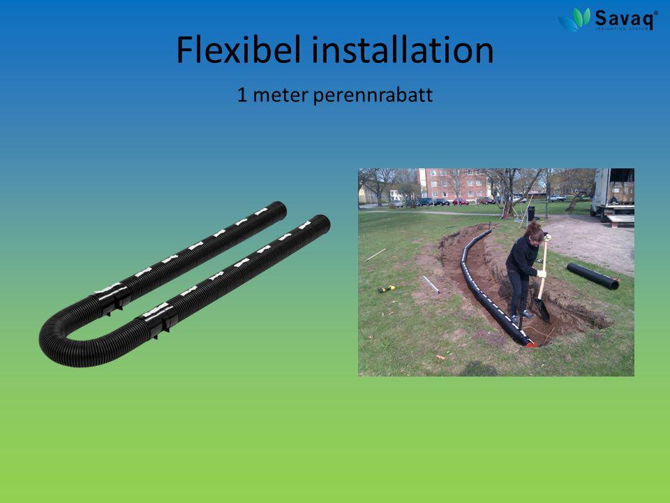 Flexibel installation 1 meter perennrabatt