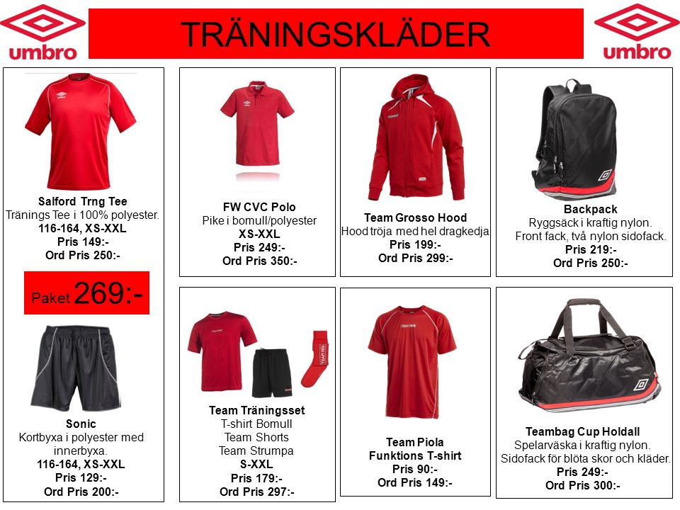MATCHKLÄDER Umbro Continental tröja Inkl klubbmärke och ryggsiffror.