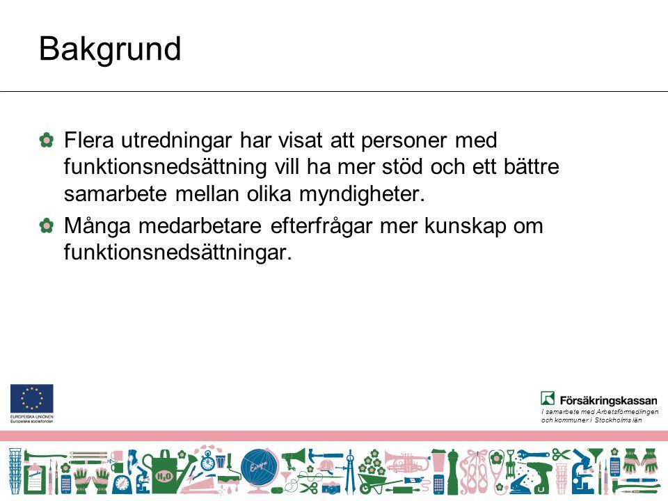 I samarbete med Arbetsförmedlingen och kommuner i Stockholms län Facebook Sprida kunskap Dialog Information