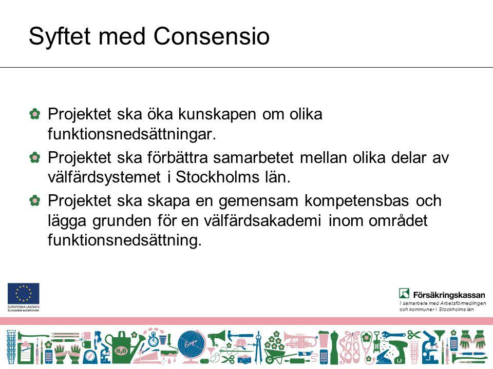 I samarbete med Arbetsförmedlingen och kommuner i Stockholms län Styrgrupp Projektets högsta beslutande organ.