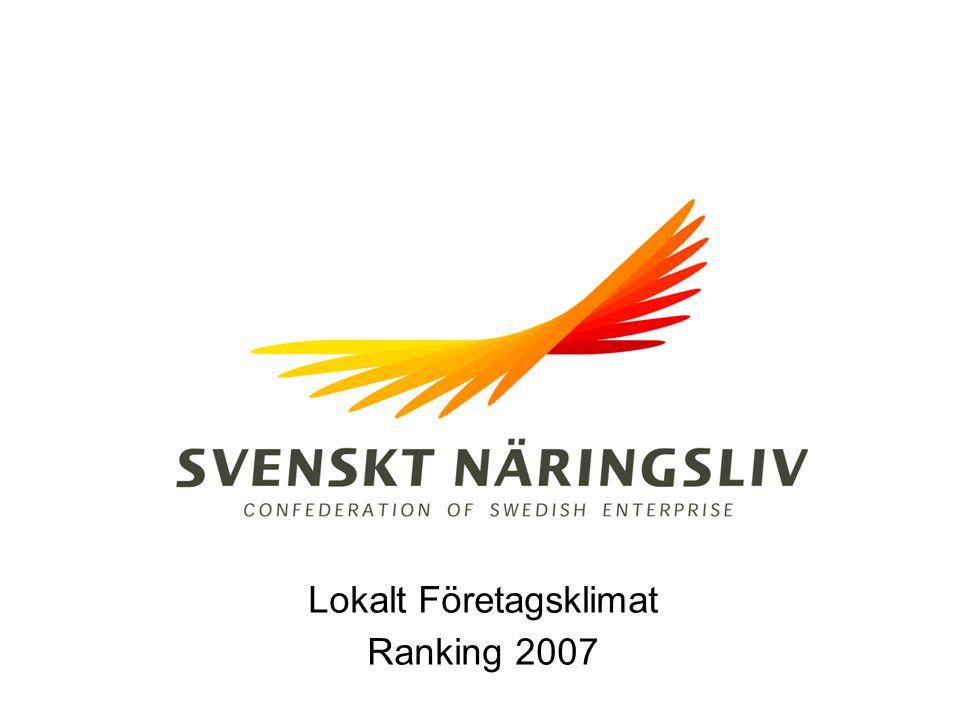 Lokalt Företagsklimat Ranking 2007