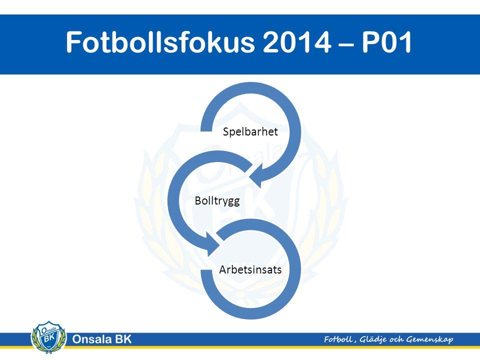 Onsala BK Fotbollsfokus 2014 – P01 Spelbarhet Bolltrygg Arbetsinsats