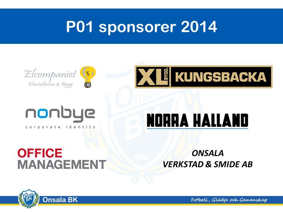 P01 sponsorer 2014 ONSALA VERKSTAD & SMIDE AB