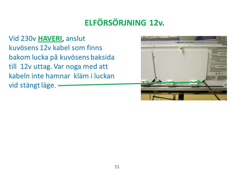 ELFÖRSÖRJNING 12v.