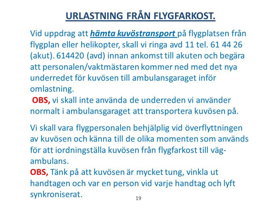 URLASTNING FRÅN FLYGFARKOST.