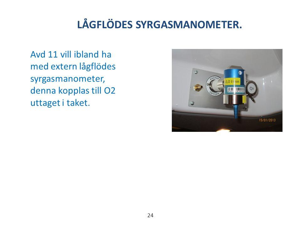 LÅGFLÖDES SYRGASMANOMETER.